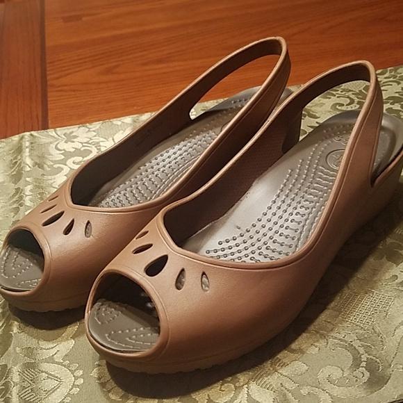 746247051808b CROCS Shoes - CROCS Mabyn Slingback Wedge